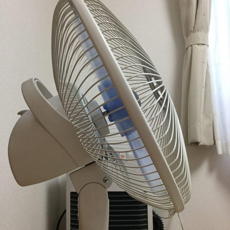セキセイインコ夏の暑さ対策扇風機画像